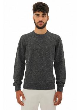 100% cotton crew neck Sweatshirt Brunello Cucinelli melange composition made in taly