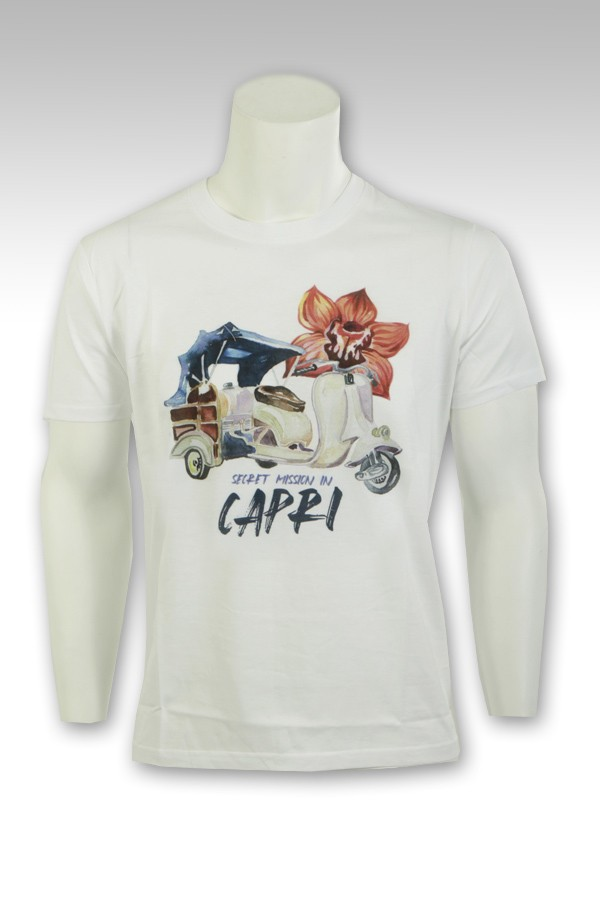 T-Shirt F**K con stampa